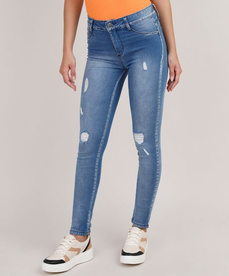 Calca-Jegging-Feminina-Sawary-Push-up-Cintura-Media-Destroyed-Azul-Medio-9855748-Azul_Medio_1