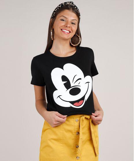 Blusa-Feminina-Mickey-Manga-Curta-Decote-Redondo-Preta-9716865-Preto_1