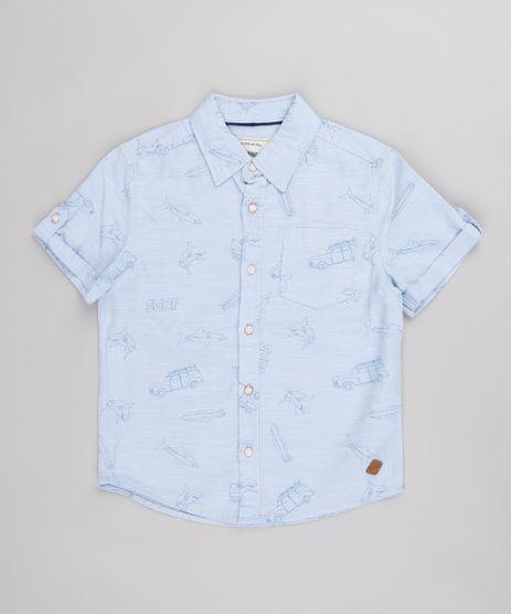 Camisa-Infantil-Estampado-de-Surf-com-Bolso-Manga-Curta--Azul-Claro-9671176-Azul_Claro_1