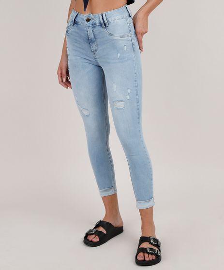 Calca-Jeans-Feminina-Sawary-Cropped-com-Rasgos-Cintura-Alta--Azul-Claro-9807357-Azul_Claro_1