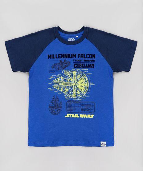 Camiseta-Infantil-Star-Wars-Raglan-Manga-Curta-Azul-9734676-Azul_1