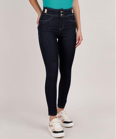 Calca-Jeans-Feminina-Sawary-Cigarrete-Cintura-Media-Azul-Escuro-9835997-Azul_Escuro_1