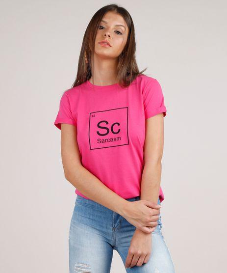 Blusa-Feminina-Tabela-Periodica--Sarcasm--Manga-Curta-Decote-Redondo-Pink-9777870-Pink_1