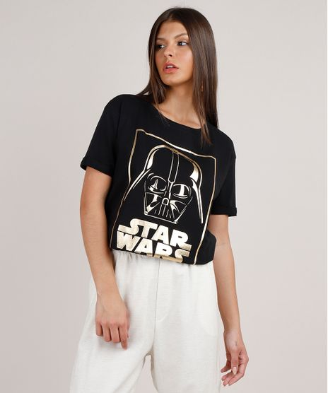 Blusa-Feminina-Darth-Vader-Star-Wars-Metalizada-Manga-Curta-Decote-Redondo-Preta-9805132-Preto_1