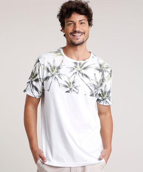 Camiseta-Masculina-com-Estampa-de-Coqueiros-Manga-Curta-Gola-Careca-Off-White-9757275-Off_White_1