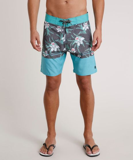 Bermuda-Surf-Masculina-Estampada-Floral-com-Bolsos-Verde-Agua-9734057-Verde_Agua_1