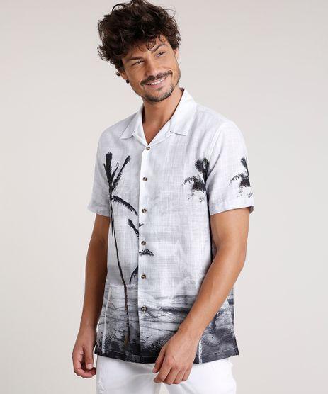 Camisa-Masculina-Tradicional-Estampada-de-Coqueiros-Manga-Curta-Off-White-9729733-Off_White_1