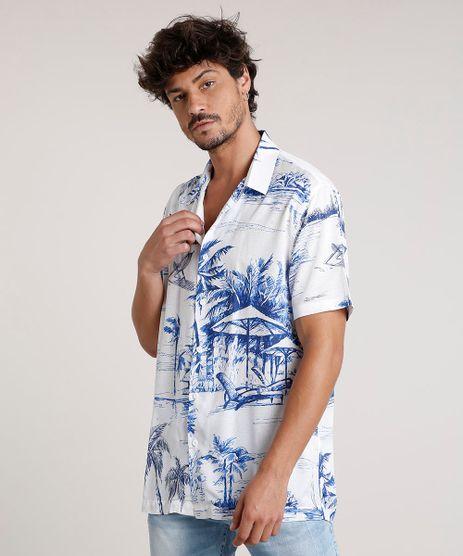 Camisa-Masculina-Tradicional-Estampada-Tropical-Manga-Curta-Off-White-9729725-Off_White_1