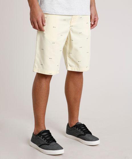 Bermuda-Masculina-Reta-Estampada-Mini-Print-Amarela-9773318-Amarelo_1