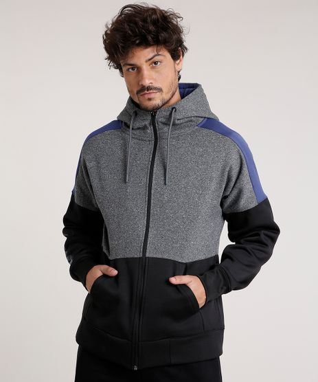 Blusao-Masculino-Esportivo-Ace-em-Moletom-com-Recorte-e-Capuz-Cinza-Mescla-Escuro-9371845-Cinza_Mescla_Escuro_1