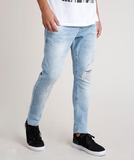 Calca-Jeans-Masculina-Carrot-Destroyed-Azul-Claro-9767027-Azul_Claro_1