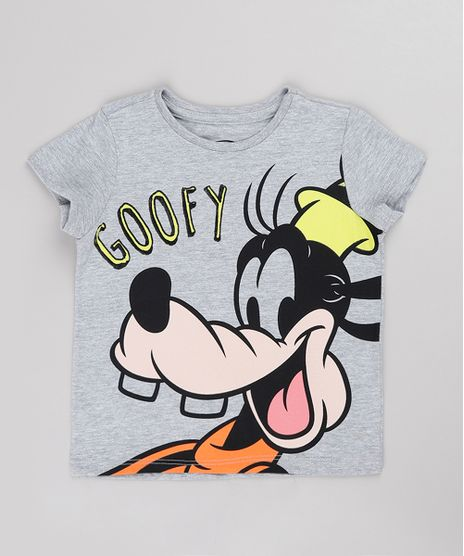 Camiseta-Infantil-Pateta-Manga-Curta-Cinza-Mescla-Claro-9844842-Cinza_Mescla_Claro_1