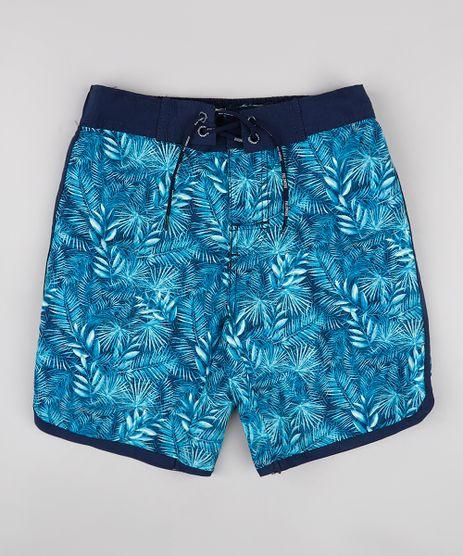 Bermuda-Surf-Infantil-Estampada-de-Folhagens-Azul-Marinho-9667431-Azul_Marinho_1