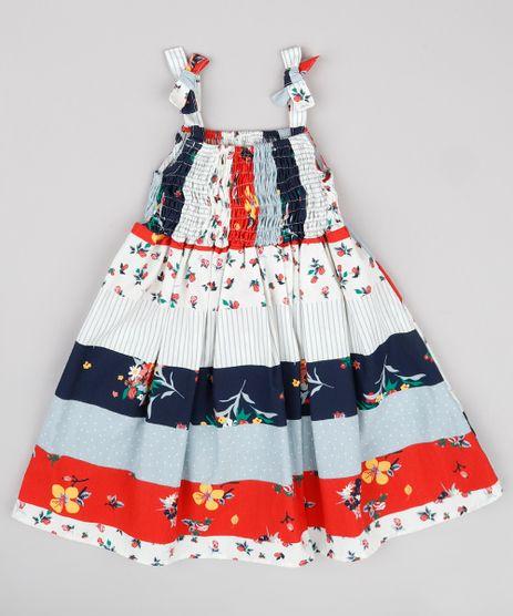 Vestido-Infantil-Estampado-Patchwork-com-Laco-Alca-Fina-Kaki-Claro-9740373-Kaki_Claro_1
