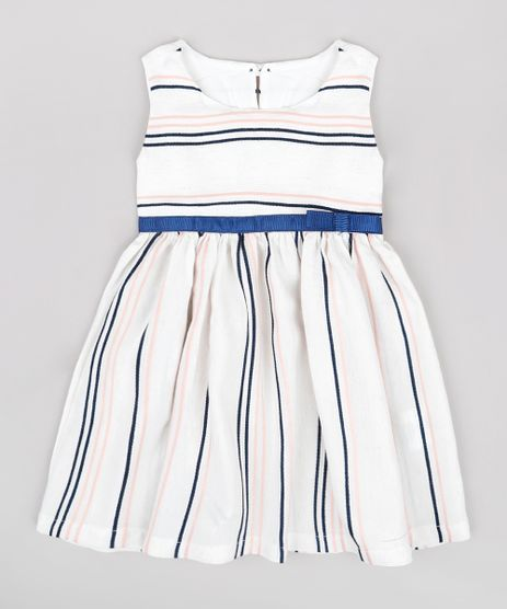 Vestido-Infantil-Listrado-com-Linho-e-Laco-Sem-Manga-Off-White-9740378-Off_White_1