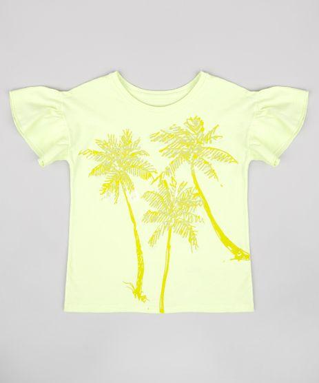 Blusa-Infantil-Coqueiros-com-Paete-Babado-na-Manga-Verde-Claro-9762725-Verde_Claro_1