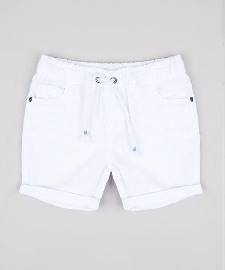 Bermuda-Infantil-Texturizada-com-Cordao-Branca-9760442-Branco_1
