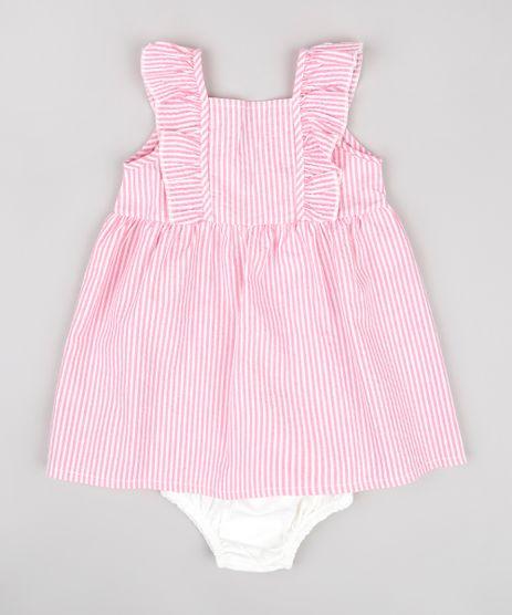 Vestido-Infantil-Listrado-com-Babado-Sem-Manga---Calcinha-Rosa-9806234-Rosa_1