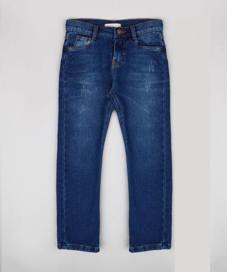 Calca-Jeans-Infantil-com-Puidos-Azul-Escuro-9658613-Azul_Escuro_1