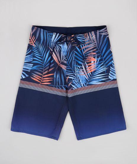 Bermuda-Surf-Infantil-Estampada-de-Folhagem-Azul-Marinho-9765347-Azul_Marinho_1