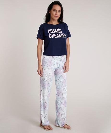 Pijama-Feminino--Cosmic-Dreamer--Estampado-de-Planetas-Manga-Curta-Azul-Marinho-9733188-Azul_Marinho_1