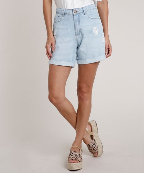 Bermuda-Jeans-Feminina-Midi-Cintura-Alta-com-Barra-Dobrada-Azul-Claro-9833556-Azul_Claro_1