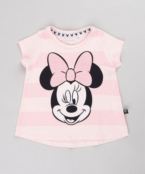 Blusa-Infantil-Minnie-Listrada-com-Glitter-Manga-Curta-Rosa-9632325-Rosa_1