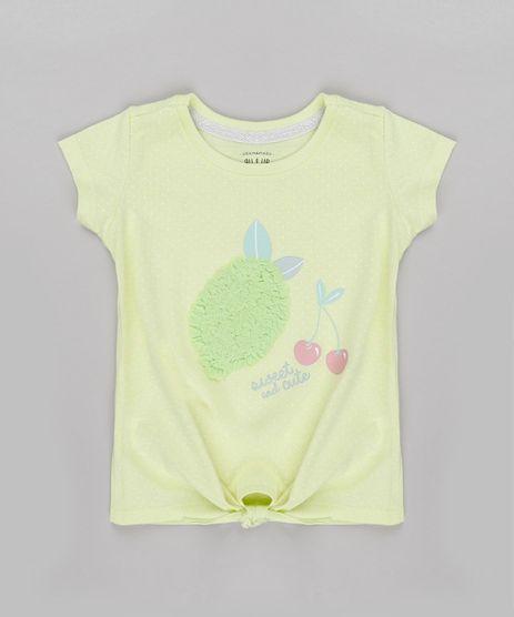 Blusa-Infantil-Estampado-de-Poa-com-Amarracao-e-Limao-Manga-Curta-Amarelo-Claro-9762127-Amarelo_Claro_1