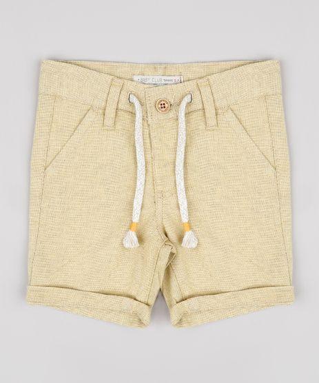 Bermuda-Infantil-Texturizada-com-Cordao-Amarela-9760443-Amarelo_1