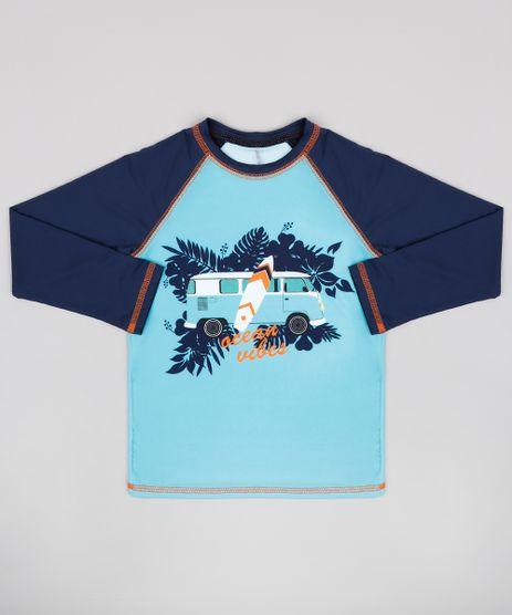 Camiseta-de-Praia-Infantil-Raglan--Ocean-Vibes--Manga-Longa-Verde-Agua-9773020-Verde_Agua_1