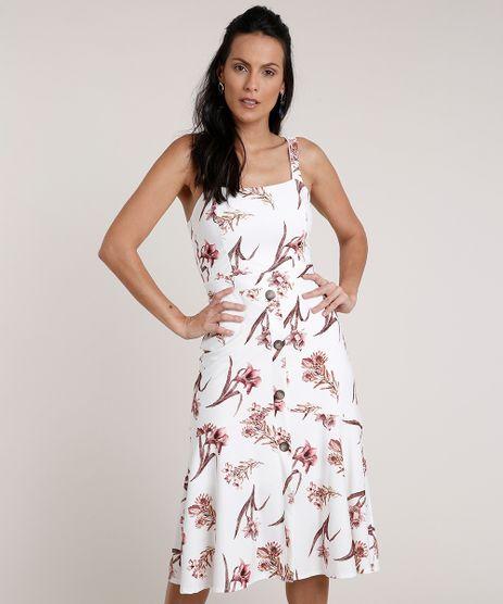 Vestido-Feminino-Midi-Estampado-Floral-com-Botoes-Alca-Media-Branco-9763356-Branco_1