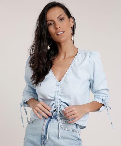 Blusa-Jeans-Feminina-Cropped-Manga-7-8-Decote-V-Azul-Claro-9761675-Azul_Claro_1