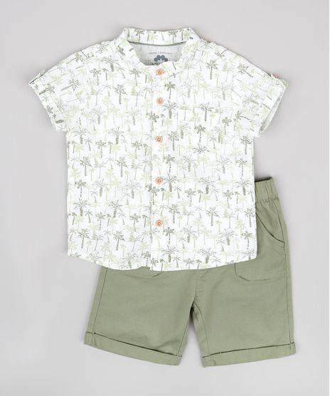 Conjunto-Infantil-de-Camisa-em-Linho-Manga-Curta-Gola-Portuguesa---Bermuda-com-Bolsos-Verde-9669854-Verde_1