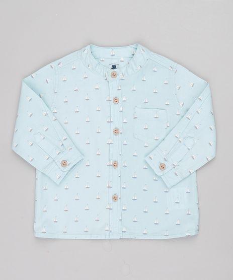 Camisa-Infantil-Estampada-de-Barquinhos-com-Bolso-Manga-Longa-Azul-Claro-9682005-Azul_Claro_1