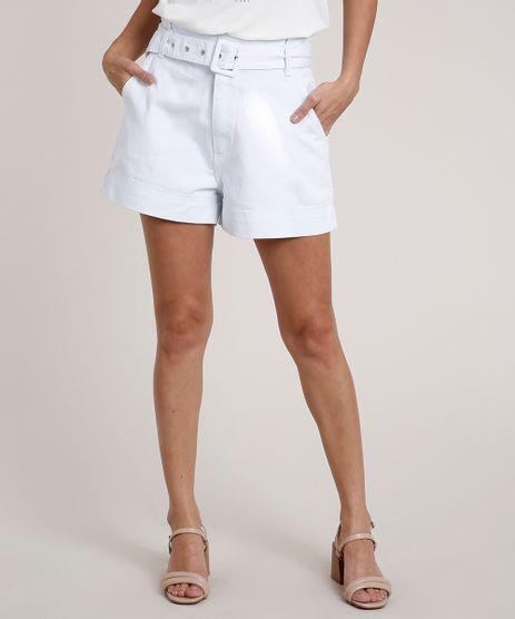 Short-de-Sarja-Feminino-Clochard-Cintura-Super-Alta-com-Cinto-Branco-9833567-Branco_1