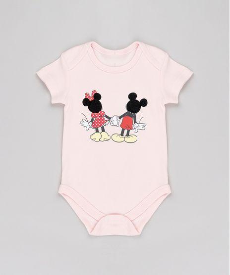 Body-Infantil-Minnie-e-Mickey-Manga-Curta-Rosa-Claro-9686031-Rosa_Claro_1