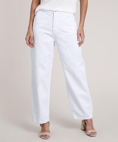 Calca-de-Sarja-Feminina-Pantalona-Cintura-Super-Alta-Branca-9834899-Branco_1