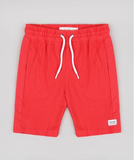 Bermuda-Infantil-em-Piquet-com-Bolsos-Vermelha-9659157-Vermelho_1