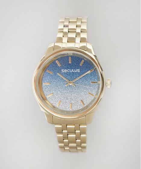 4ad051bfae2 Relógio Analógico Mondaine Feminino - 28772LPSVDA3 Dourado - cea