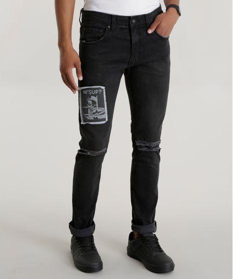 c4813e01d Calca-Jeans-Skinny-Batman-Preta-8582257-Preto 1