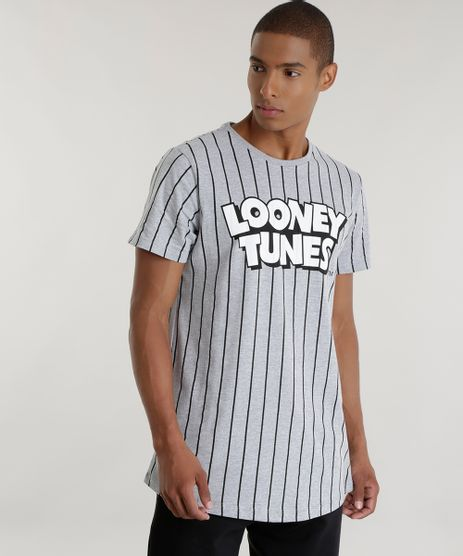 Camiseta-Longa-Listrada-Looney-Tunes-Cinza-Mescla-8560341-Cinza_Mescla_1