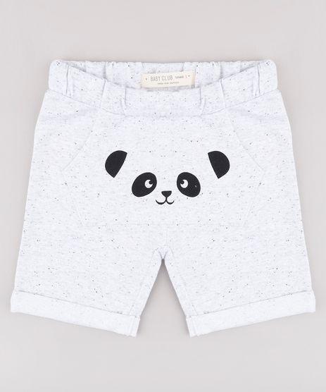 Bermuda-Infantil-em-Moletom-com-Estampa-de-Panda-e-Bolso--Cinza-Mescla-9678147-Cinza_Mescla_1