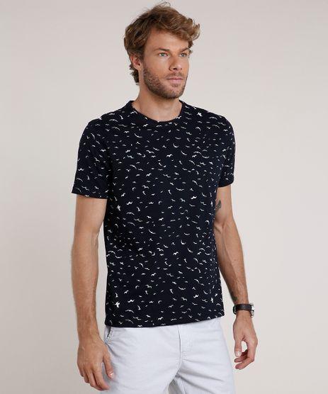 Camiseta-Masculina-Estampada-de-Passaros-Manga-Curta-Gola-Careca-Azul-Marinho-9771652-Azul_Marinho_1