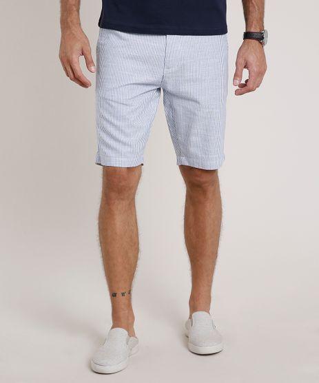 Bermuda-Masculina-Slim-Alfaiatada-Listrada-Azul-9775886-Azul_1