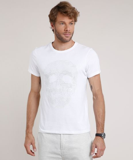 Camiseta-Masculina-Slim-Fit-Caveira-Manga-Curta-Gola-Careca-Off-White-9751024-Off_White_1