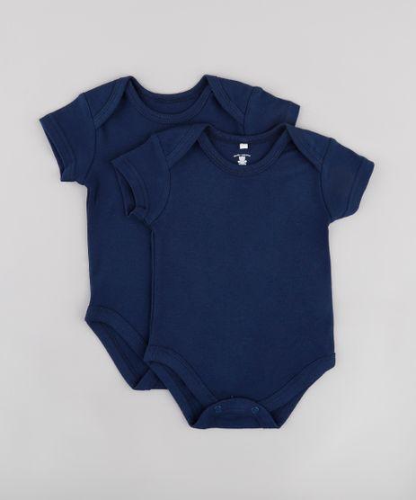 Kit-de-2-Bodies-Infantis-Basicos-Manga-Curta-Azul-Marinho-9595824-Azul_Marinho_1