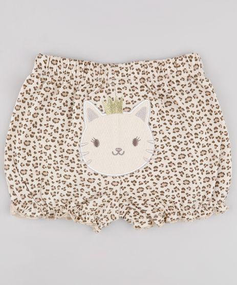 Short-Infantil-Leopardo-Estampado-Animal-Print-Bege-9677751-Bege_1