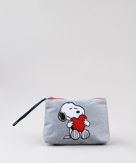 Necessaire-Feminina-Snoopy-Cinza-Mescla-9797231-Cinza_Mescla_1