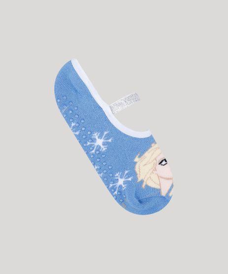 Meia-Sapatilha-Feminina-Elsa-Frozen-Listrada-com-Lurex-Azul-9805381-Azul_1