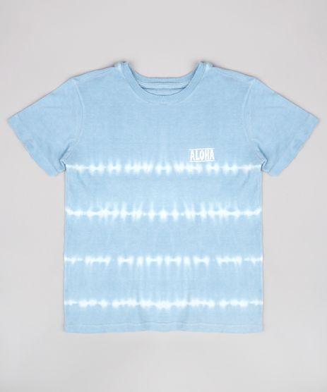 Camiseta-Infantil-Estampada-Tie-Dye--Aloha--Manga-Curta--Azul-9758305-Azul_1